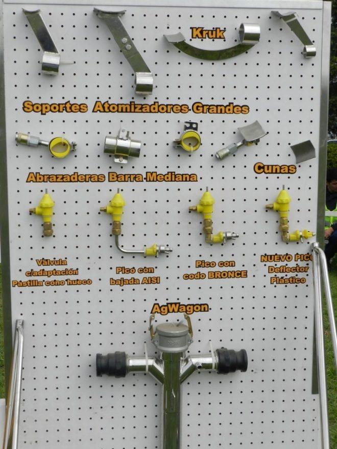 accesorios para la fumigacion aerea