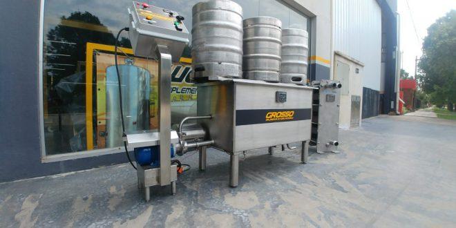 Lavadora de barriles de cerveza automatica