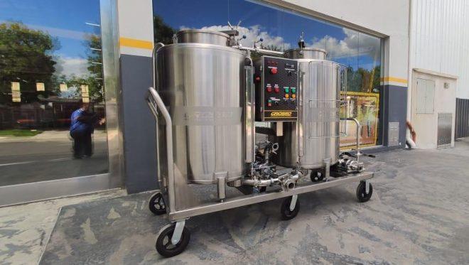 Central de lavado CIP semiautomatica