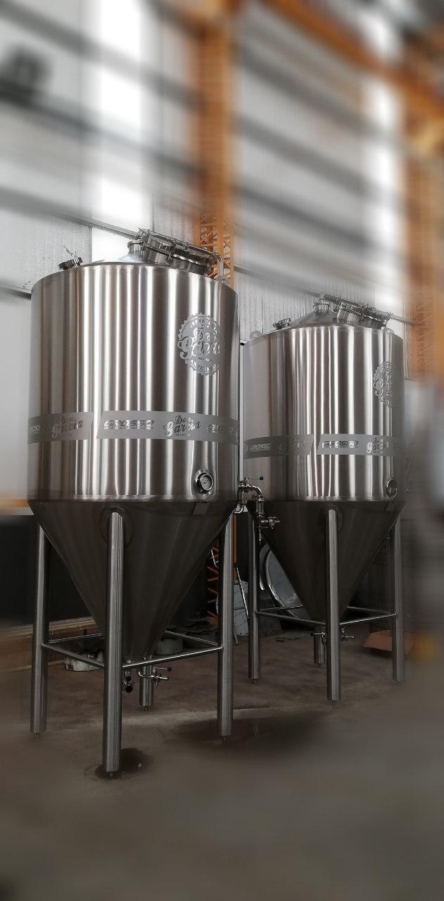 Fermentador de cerveza unitanque con carbonatador isobarico-