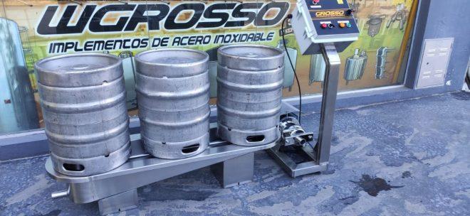 Lavadora y enjuagadora de barriles de cerveza semiautomatica (1)